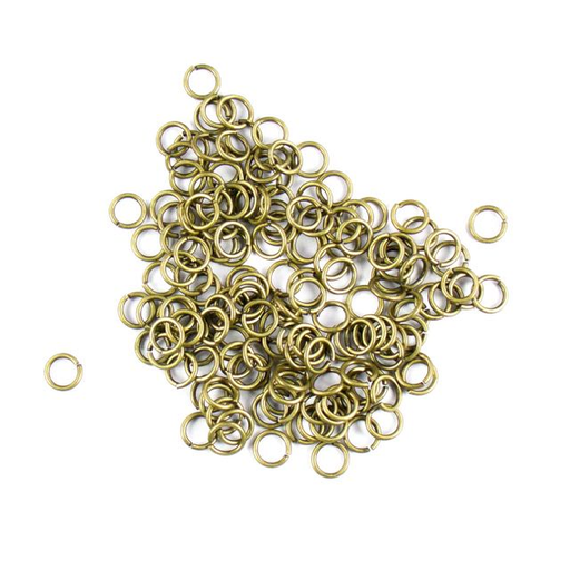 6mm 18g Open Jump Rings - Antique Brass