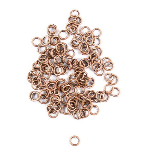 6mm 18g Open Jump Rings - Antique Copper