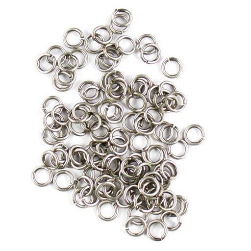 6mm 18g Open Jump Rings - Antique Silver