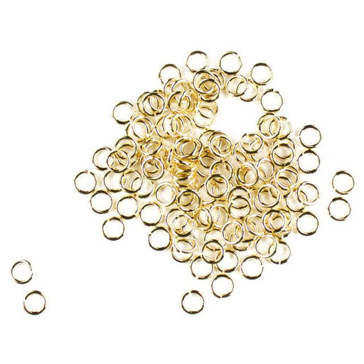 6mm 18g Open Jump Rings - Gold