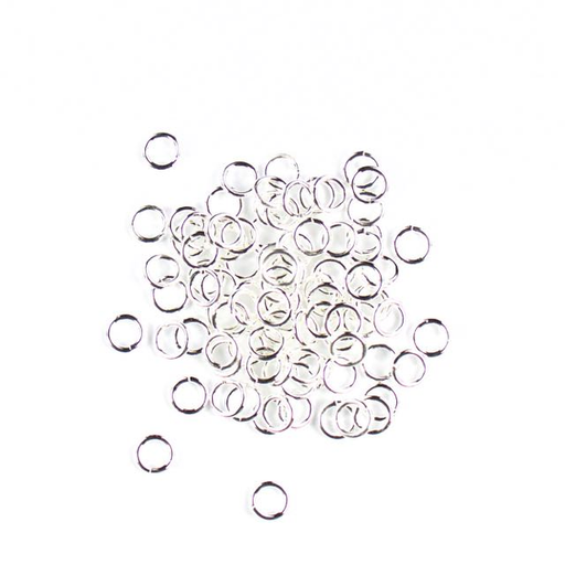 6mm 18g Open Jump Rings - Silver