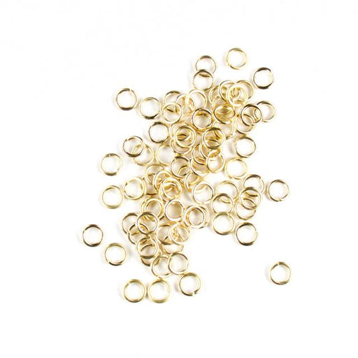 6mm 18g Open Jump Rings - Satin Hamilton Gold