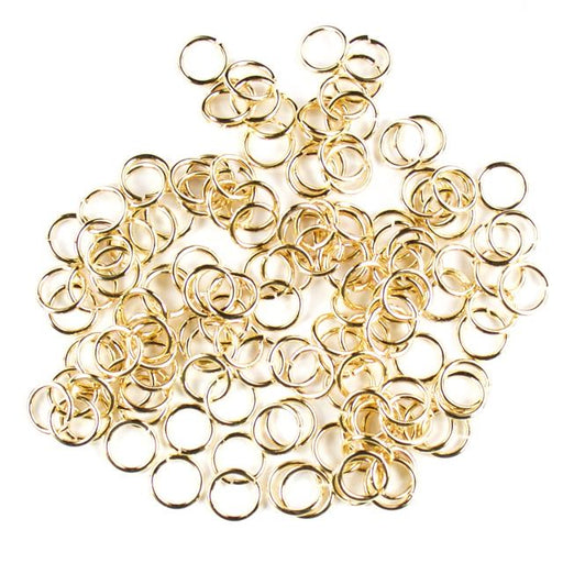 8mm 18g Open Jump Rings - Gold