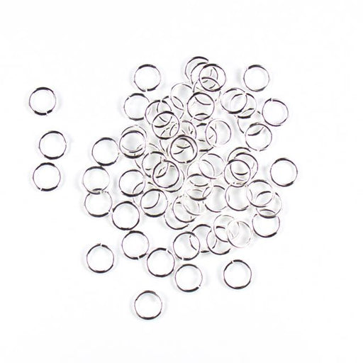 8mm 18g Open Jump Rings - Silver