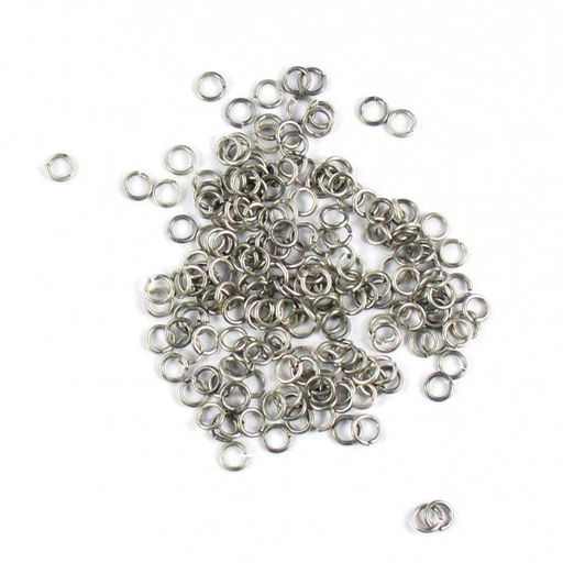 4mm 21g Open Jump Rings - Antique Silver