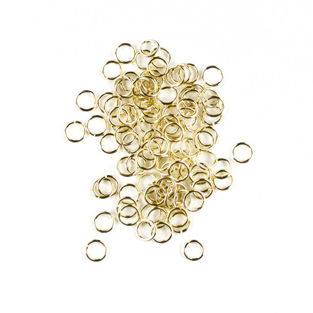 6mm 21g Open Jump Rings - Gold