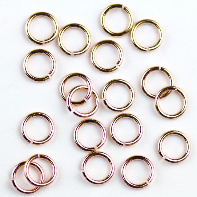 6mm 21g Open Jump Rings - Rose Gold