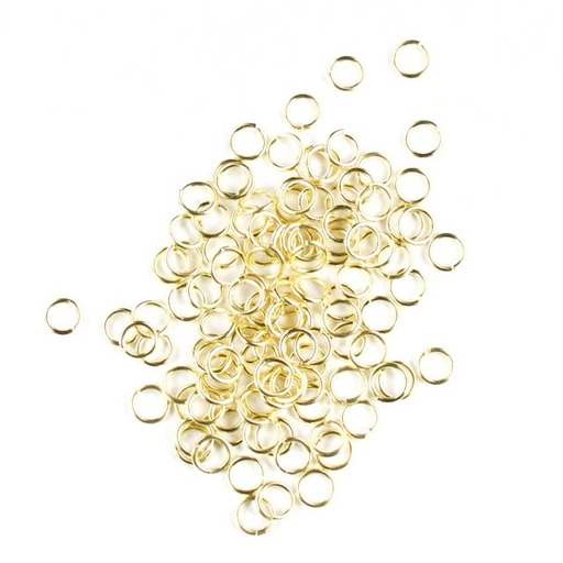 6mm 21g Open Jump Rings - Satin Hamilton Gold