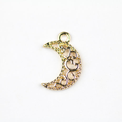 Crescent Moon Charm - Gold