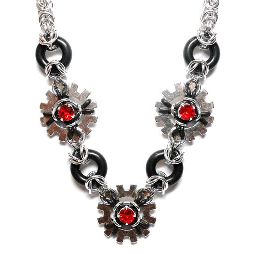 HyperLynks Glam Punk Necklace Kit (Light Siam Swarovski® Montees)