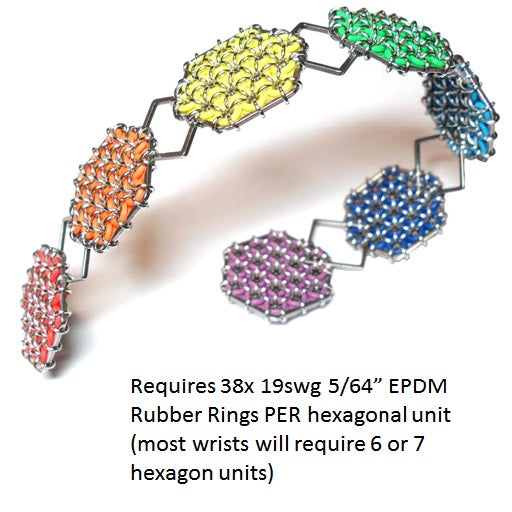HyperLynks Hexmaille Bracelet Kit - excludes required EPDM rubber rings