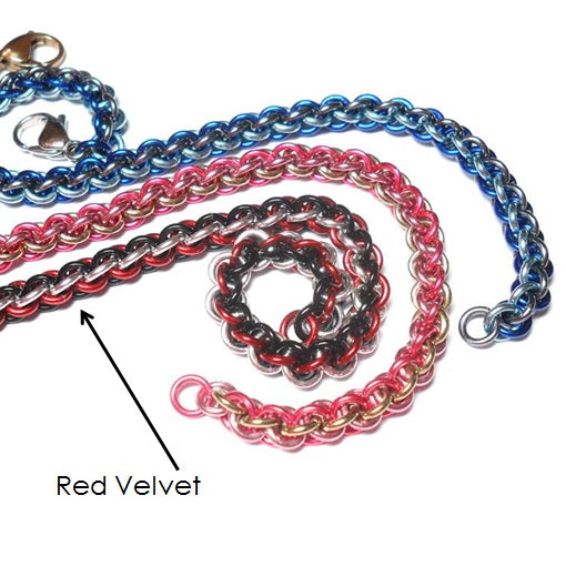 HyperLynks Anodized Aluminum JPL Bracelet Kit - Red Velvet