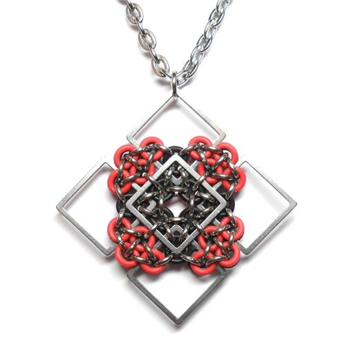 HyperLynks Patchwork Pendant Kit - Red and Black