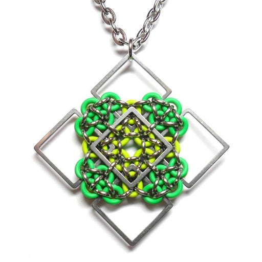 HyperLynks Patchwork Pendant Kit - Green and Lime