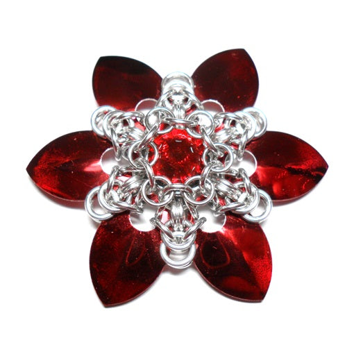 HyperLynks Scale Snowflake Pendant Kit - Red
