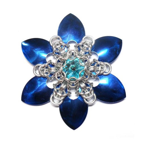 HyperLynks Scale Snowflake Pendant Kit - Blue