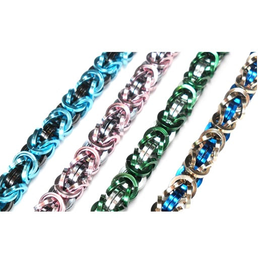 HyperLynks Square Wire Byzantine Bracelet Kit (Sky Blue and Black)
