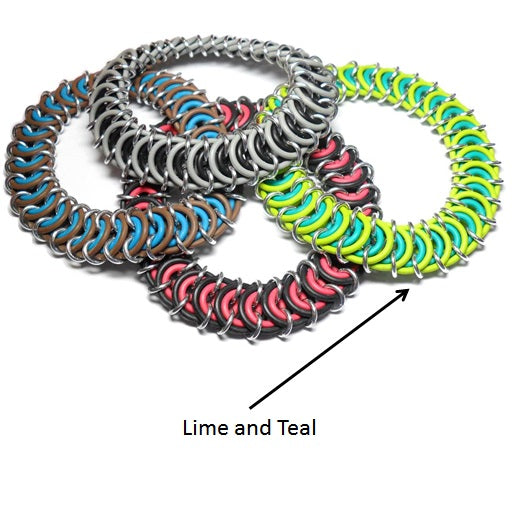 HyperLynks Stretchy Vertebrae Bracelet Kit - Lime and Teal