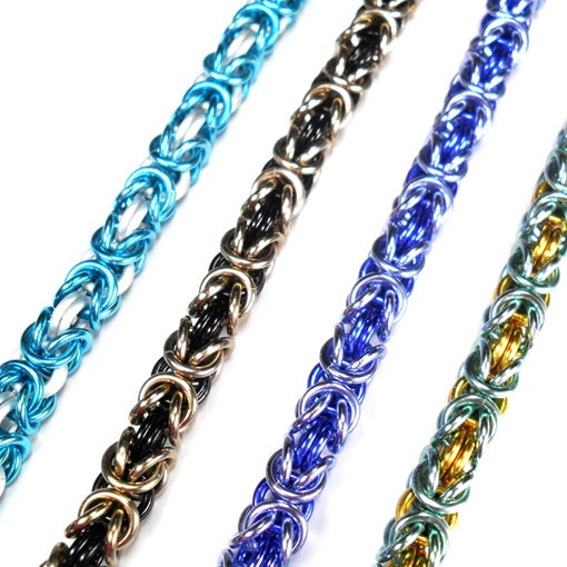 HyperLynks Two-Tone Byzantine Bracelet Kit (Sky Blue and White)