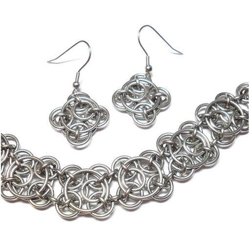 HyperLynks Stainless Steel Clockwork Set Kit  (Pattern 19 in the Chainmaille Artisan Collection)