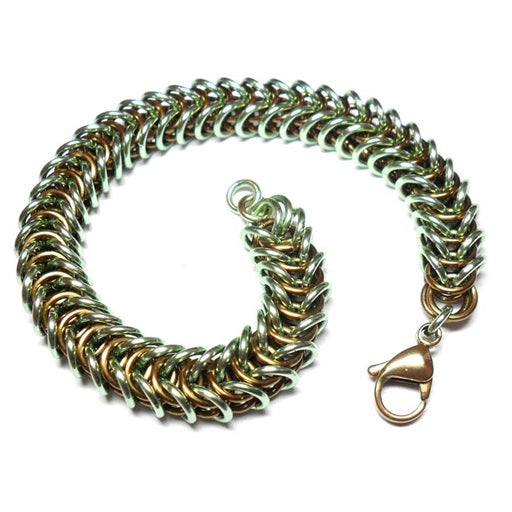 HyperLynks Box Chain Bracelet Kit - Brown and Seafoam