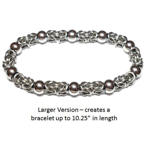HyperLynks Beads of Steel Bracelet Kit (Larger Version, Up to 10.25 inches)