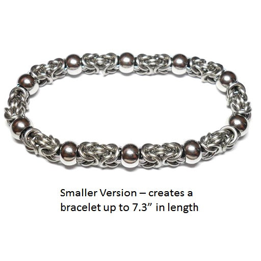 HyperLynks Beads of Steel Bracelet Kit (Smaller Version, Up to 7.3 inches)