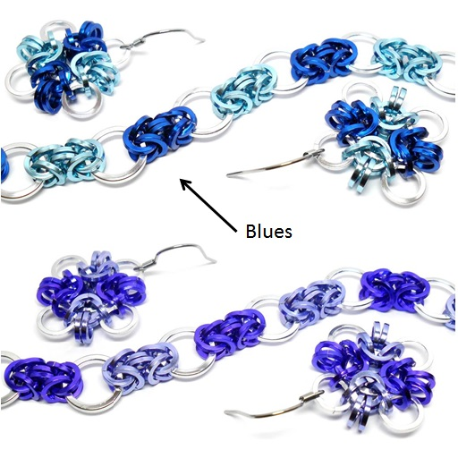 HyperLynks Carnaval Bracelt and Earrings Kit - Blues