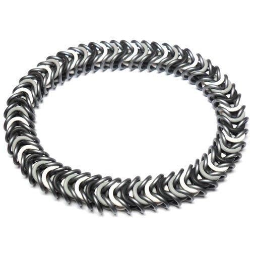 HyperLynks Stretchy Box Chain Bracelet Kit - Slate with Black, Pewter and White