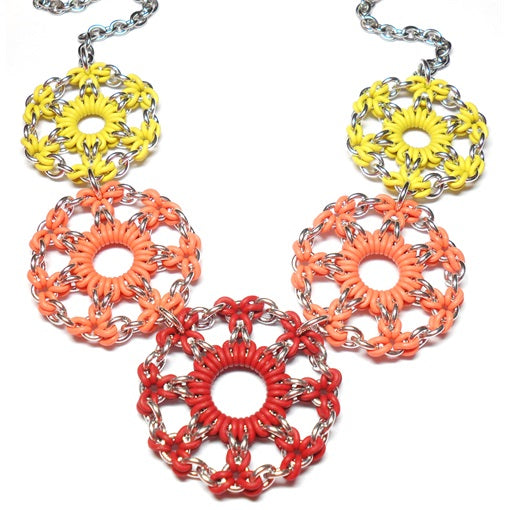 HyperLynks Wildflowers Necklace Kit - Day Lillies (Yellow, Orange, Crimson)