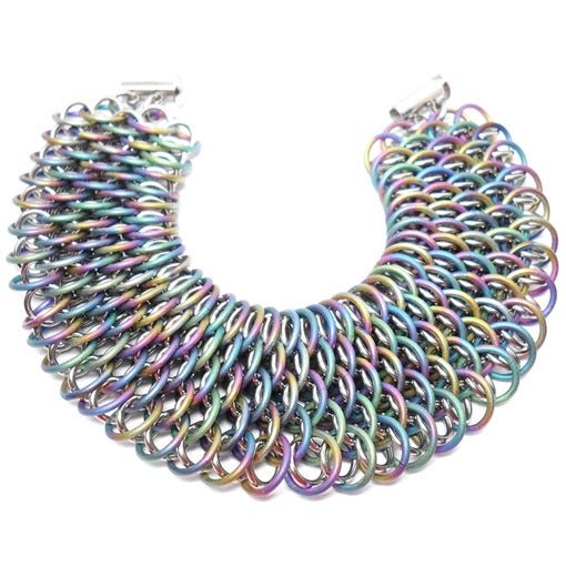 HyperLynks Titanium Dragonscale Bracelet Kit - Rainbow Titanium and Shiny Titanium (Expert Level)