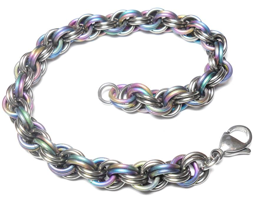 HyperLynks Titanium Double Spiral Kit - Rainbow Titanium and Shiny Titanium (Intermediate Level)***