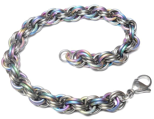 HyperLynks Titanium Double Spiral Kit - Rainbow Titanium and Shiny Titanium (Intermediate Level)