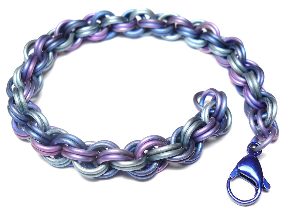 HyperLynks Titanium Double Spiral Kit - Shades of Blue Titanium (Intermediate Level)