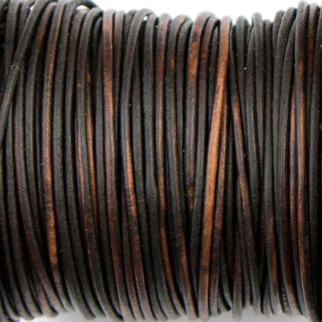 1mm Indian Leather - Dyed Antique Brown