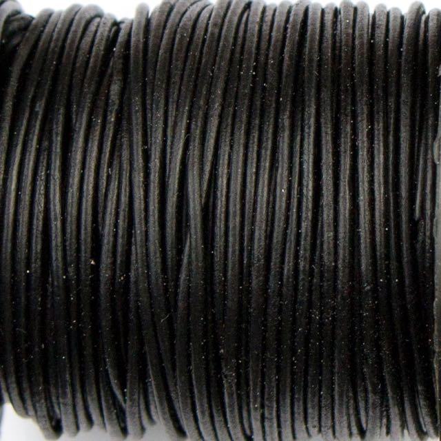 1mm Indian Leather - Dyed Antique Black