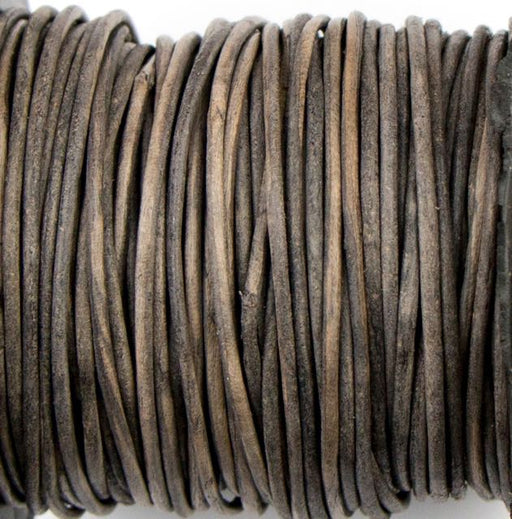 1mm Indian Leather - Dyed Antique Grey