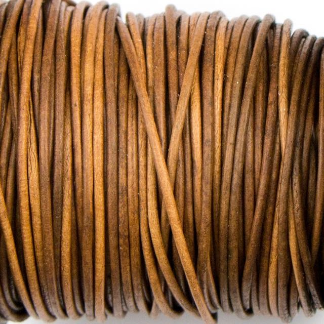 1mm Indian Leather - Dyed Antique Light Brown