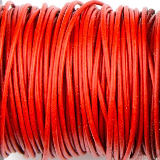 1mm Indian Leather - Red