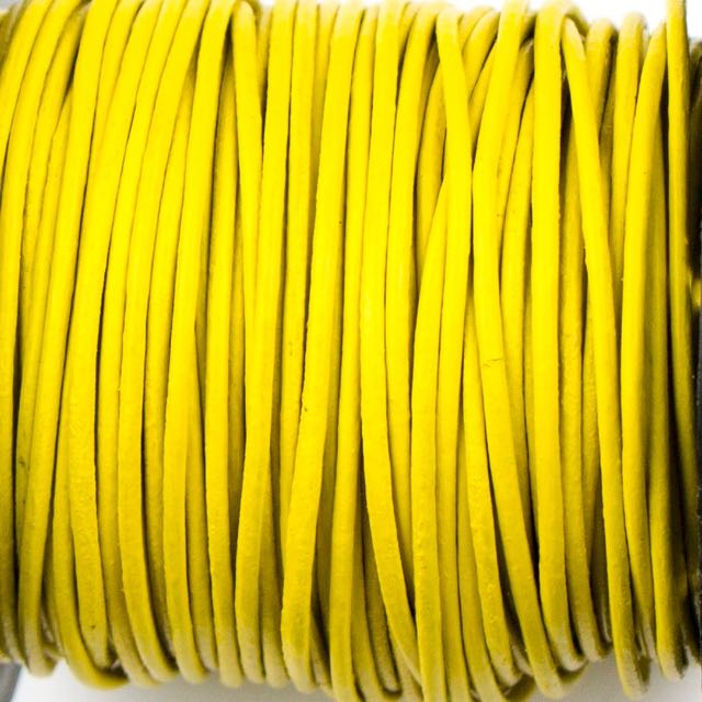 1mm Indian Leather - Yellow