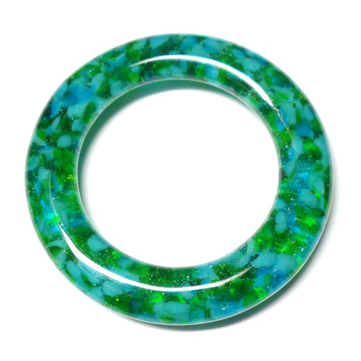 LovelyLynks Large (approx. 45mm diameter) Glass Circles - Aqua