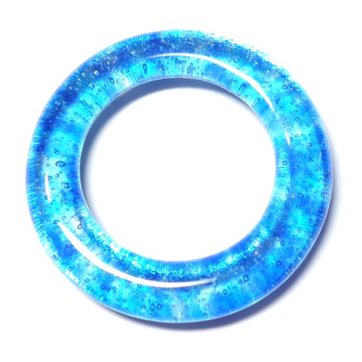 LovelyLynks Large (approx. 45mm diameter) Glass Circles - Electricity