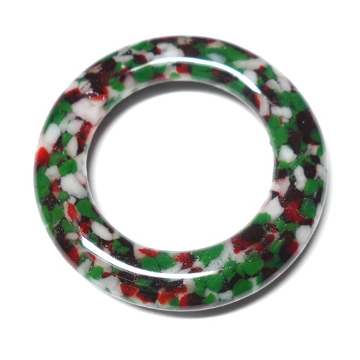 LovelyLynks Large (approx. 45mm diameter) Glass Circles - Festive