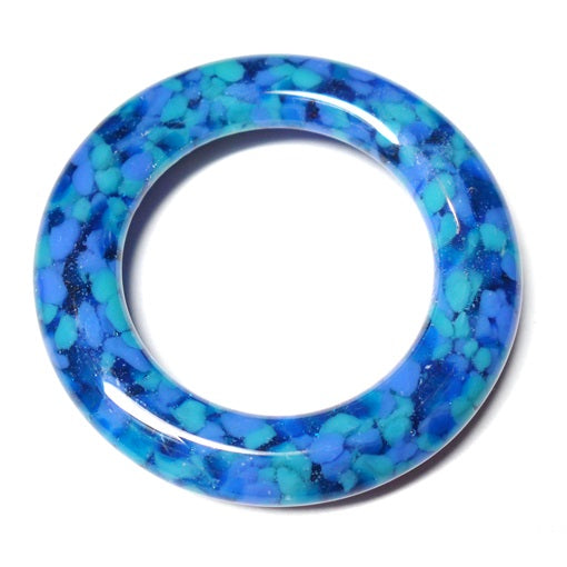 LovelyLynks Large (approx. 45mm diameter) Glass Circle s- Lagoon