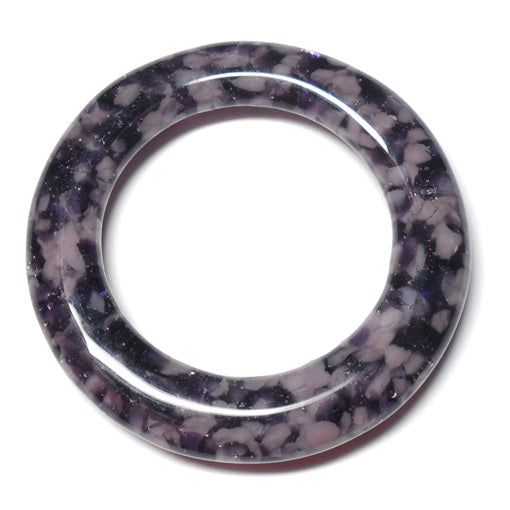 LovelyLynks Large (approx. 45mm diameter) Glass Circles - Purple