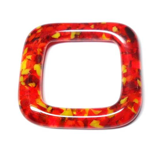 LovelyLynks Large (34mm x 34mm) Glass Squares - Fire