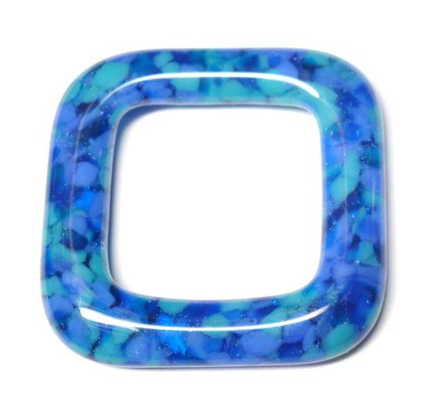 LovelyLynks Large (34mm x 34mm) Glass Squares - Lagoon