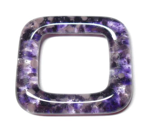 LovelyLynks Large (34mm x 34mm) Glass Squares - Purple