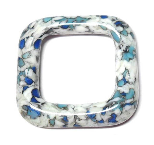 LovelyLynks Large (34mm x 34mm) Glass Squares - Winter
