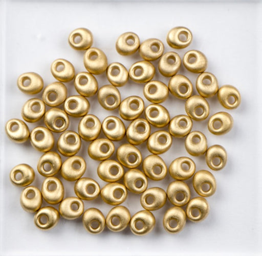 Miyuki 4mm MAGATAMA Beads - 24kt Gold Light Plated